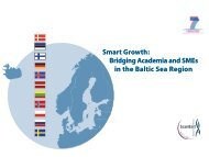 Bridging Academia and SMEs in the Baltic Sea Region - Scanbalt