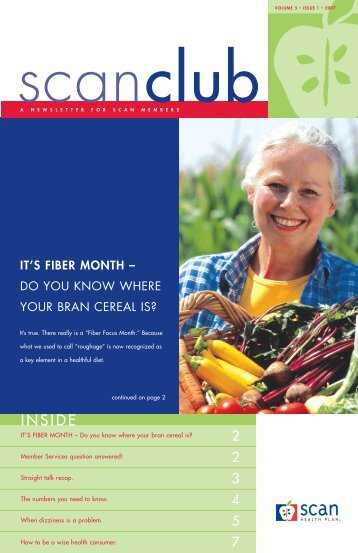 IT'S FIBER MONTH – Do you know where your - SCAN Health Plan