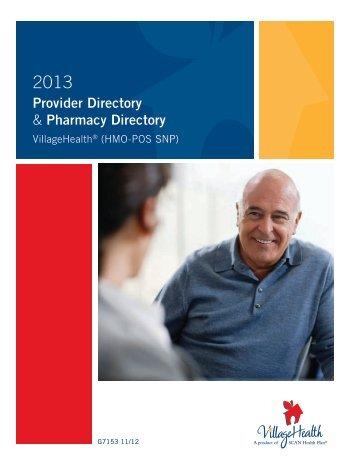 Provider Directory & Pharmacy Directory - Village Health