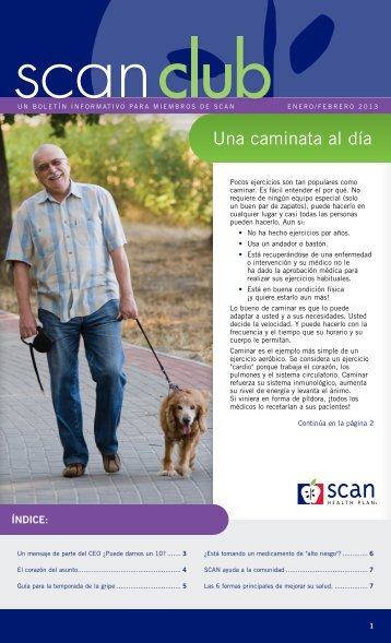 Una caminata al día - SCAN Health Plan