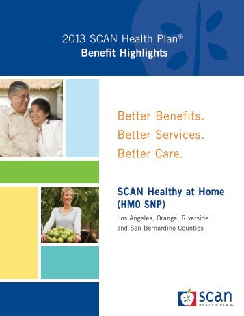Benefit Highlights - SCAN Health Plan