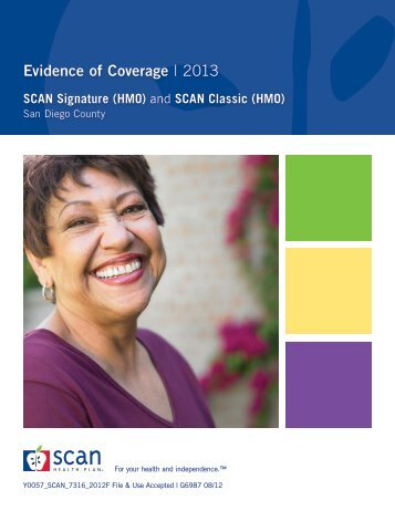 Evidence of Coverage | 2013 - SCAN Health Plan
