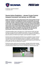 Saving fuel with GPS data - Scania