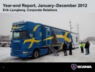 Year-end Report, January–December 2012 - Scania