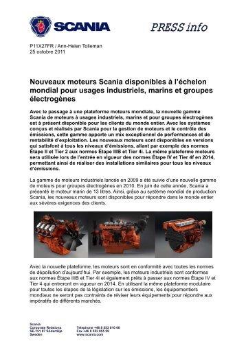 Nouveaux moteurs Scania disponibles à l'échelon mondial pour ...