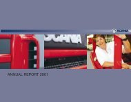 Scania annual report 2001