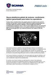 Nueva plataforma global de motores: rendimiento óptimo ... - Scania