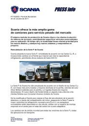 Scania ofrece la más amplia gama de camiones para servicio ...