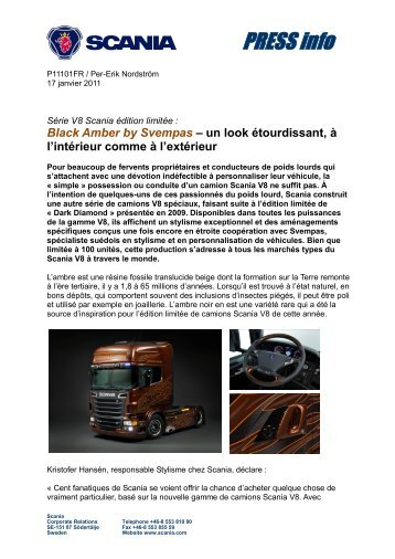 Série V8 Scania édition limitée : Black Amber by Svempas – un look ...