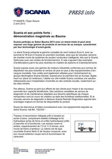 Scania et ses points forts : démonstration magistrale au Bauma