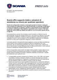Supporto totale e soluzioni di assistenza su misura - Scania