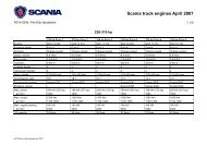 Scania truck engines April 2007