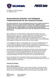 Automatisiertes Schalten und intelligente Traktionskontrolle ... - Scania