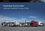 Scania Rent Truck & Trailer Optimale Flexibilität für Ihren Erfolg