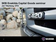 Scania, Jan Ytterberg, CFO - SEB Enskilda Capital Goods seminar