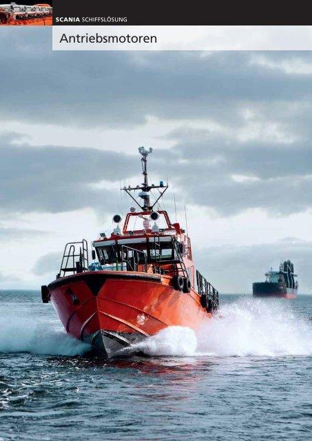 Scania Schiffslösung - Antriebsmotoren