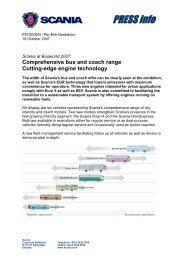 Comprehensive bus and coach range Cutting-edge engine ... - Scania