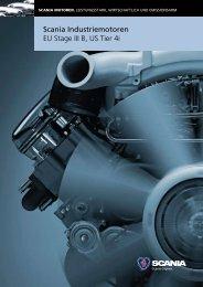 Scania Industriemotoren EU Stage III B, US Tier 4i