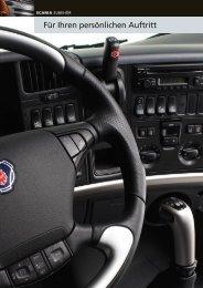 Scania Zubehör: Dekoreinlagen für das Armaturenbrett