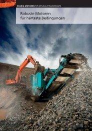 Scania Motoren für den Baustelleneinsatz