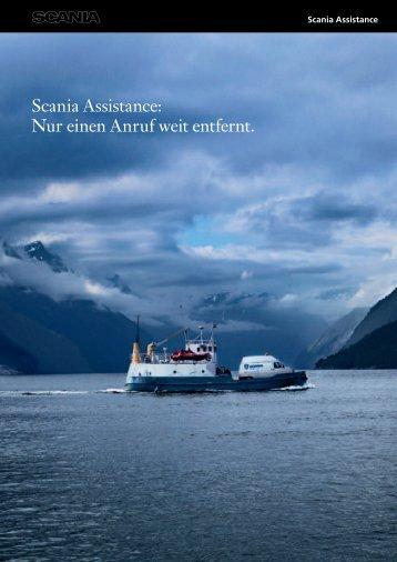 Scania Assistance: Nur einen Anruf weit entfernt.