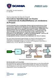 Innovatives Hybridkonzept von Scania – verbessert die ...