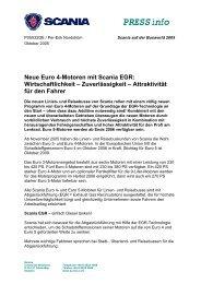 Wirtschaftlichkeit – Zuverlässigkeit – Attraktivität für den ... - Scania