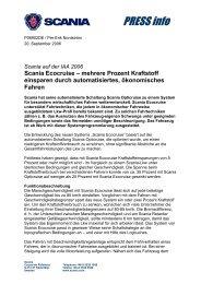 Scania Ecocruise – mehrere Prozent Kraftstoff einsparen durch ...