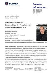 Porträt Patrick Schildmann - Scania Deutschland