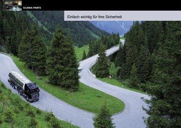 Scania Parts. Einfach wichtig für Ihre Sicherheit