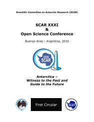 SCAR XXXI & Open Science Conference - Scientific Committee on ...
