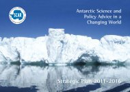 Strategic Plan 2011-2016 - Scientific Committee on Antarctic Research