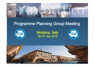 Programme Planning Group Meeting - Main presentation