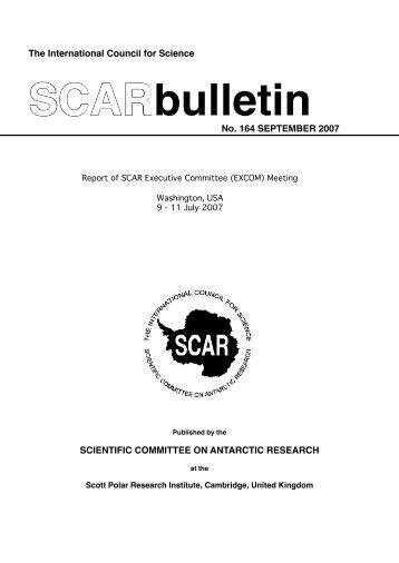 Bulletin 164 - Scientific Committee on Antarctic Research