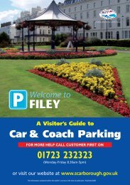 Car & Coach Parking - Scarborough Borough Council