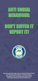 anti social behaviour: don't suffer it report it! - Scarborough Borough ...