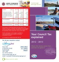 Your Council Tax explained 2012 - 2013 - Scarborough Borough ...