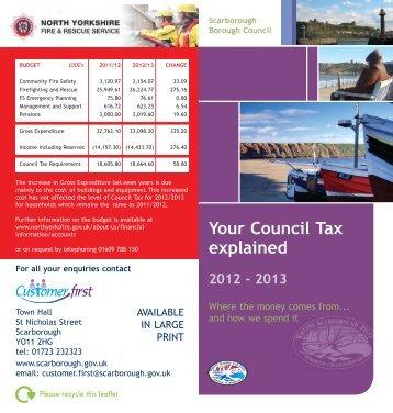 Your Council Tax explained 2012 - 2013 - Scarborough Borough ...