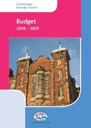 Budget Book 2008/09 - Scarborough Borough Council