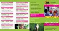 April – Juli 2012 Angebote für Groß und Klein, Jung und Alt