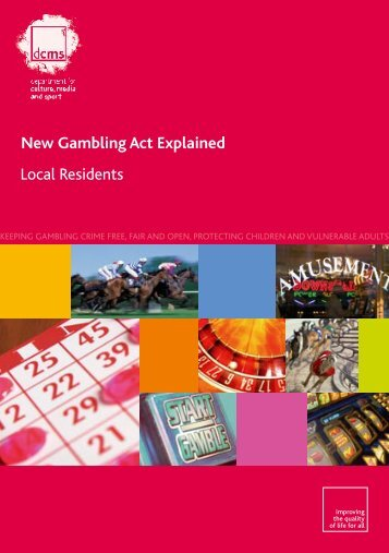 New Gambling Act Explained Local Residents - Scarborough ...