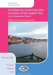 housing sites submitted - Scarborough Borough Council