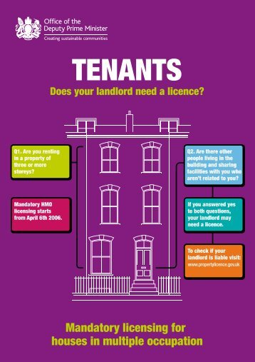 TENANTS - London Student Housing Guide