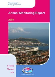 Annual Monitoring Report 2008 - Scarborough Borough Council