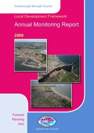 Annual Monitoring Report 2009 - Scarborough Borough Council