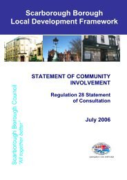 SCI Regulation 28 Statement of Consultation - Scarborough ...