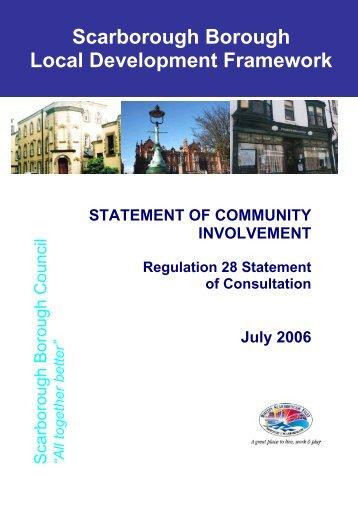 SCI Regulation 28 Statement of Consultation - Scarborough ...
