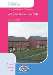 Affordable Housing SPG Documents - Scarborough Borough Council