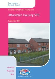 Affordable Housing SPG Documents - Scarborough Borough Council