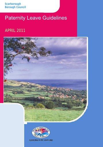 Paternity Leave Guidelines - Scarborough Borough Council